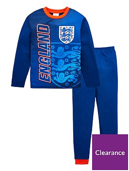 england-boys-football-long-sleevednbsppyjama-set-blue