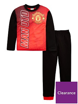 manchester-united-boys-football-long-sleevednbsppyjama-set-red