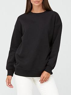 v-by-very-the-essential-longline-crew-neck-sweatshirt-black
