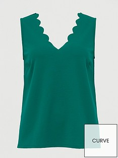 v-by-very-curve-scalloped-edge-cami-green