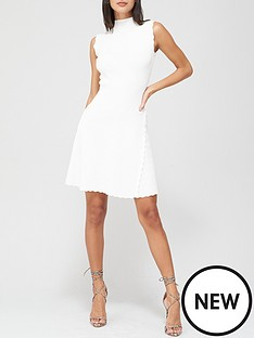 v-by-very-compact-knit-skater-dress-white