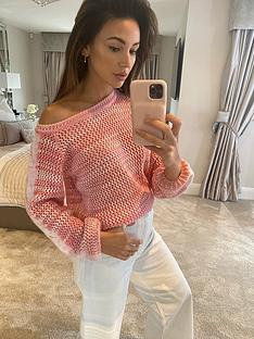 michelle-keegan-cable-detail-off-the-shouldernbspjumper-pink
