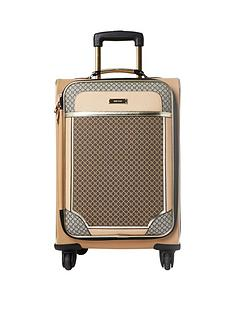 river-island-brown-monogram-suitcase
