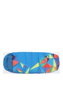 Very  Mummy Shaped Blue Sleeping Bag