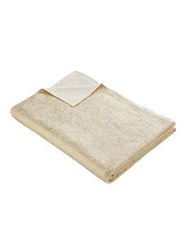 Tess Daly Tess Daly Gold Knit Throw Picture