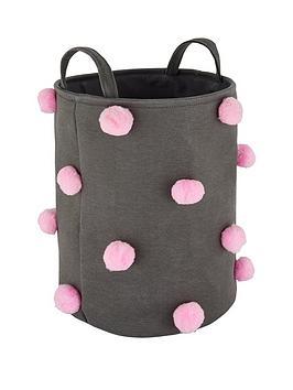 pom-pom-laundry-basket-greypink