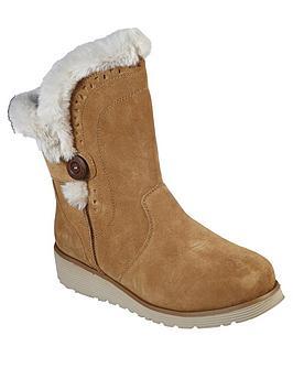 skechers-keepsakes-wedge-cozy-button-calf-boot-tan