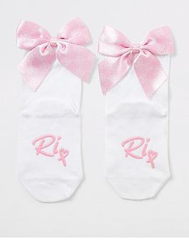 river-island-mini-2-pack-girls-bow-back-socks-white
