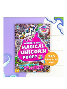 Very Personlised Where'S The Magical Unicorn Poop Book Picture