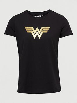 v-by-very-wonder-woman-gold-foil-t-shirt-black