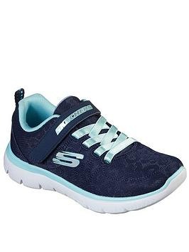 Skechers Skechers Girls Summits Trainers - Navy Picture