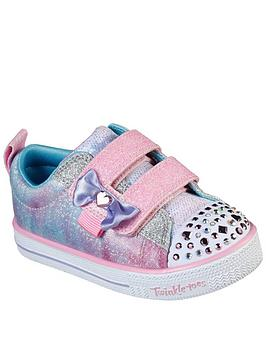skechers-girls-twinkle-toes-bow-trainers-pink