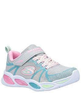 Skechers Skechers Girls Shimmer Beams Trainers - Silver Picture