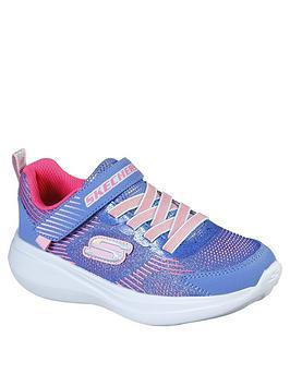 skechers-girls-gorun-fast-sparkle-strap-trainer-blue