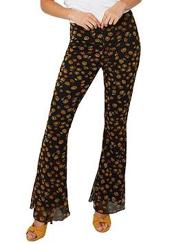Joe Browns Joe Browns Floral Flared Trousers - Black Picture