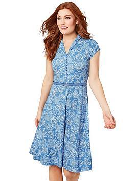 Joe Browns Joe Browns Ditsy Vintage Dress - Blue Picture