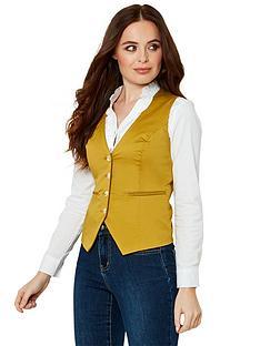 joe-browns-cotton-waistcoat-yellow