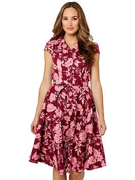 Joe Browns Joe Browns Unique Print Shirt Dress - Burgundy Picture