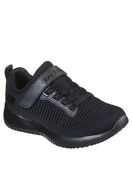skechers-girls-bobs-squad-lace-up-trainer-black