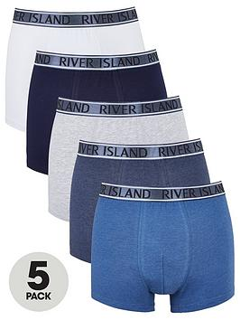 river-island-5-pack-metallic-logo-boxers-blue