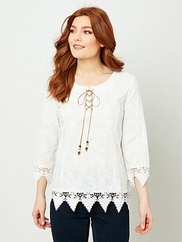 Joe Browns Joe Browns Lover'S Lace Top - White Picture