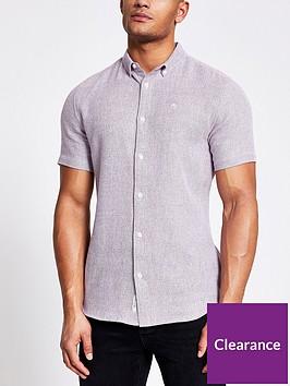 river-island-short-sleeve-texture-shirt-berry