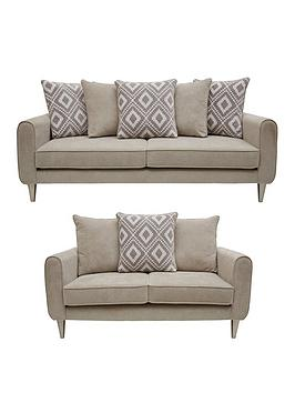 Very Mylo Fabric 3 Seater + 2 Seater Scatter Back Sofa Set (Buy And Save!) Picture