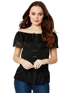 Joe Browns Joe Browns Bardot Neck Top - Black Picture
