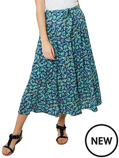 joe-browns-delicious-palm-print-skirt-blue