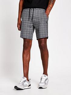 river-island-dory-check-shorts-grey