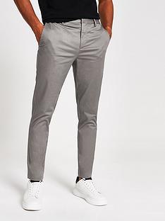 river-island-skinny-chino-trouser-grey