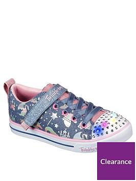 skechers-girls-sparkle-lite-unicorn-twinkle-toes-plimsoll-bluepink
