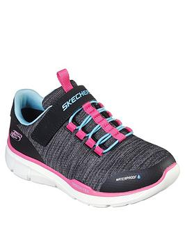 skechers-girls-equalizer-30-waterproof-trainer-charcoal
