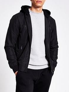 river-island-royce-bomber-withnbspjersey-removable-hood-black
