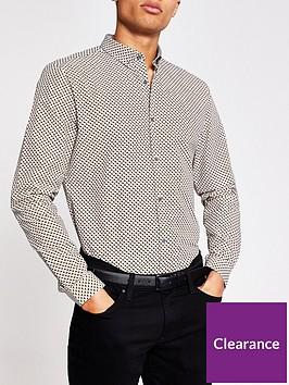 river-island-long-sleeve-mini-geo-print-shirt-grey