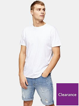 topman-topman-vintage-bleach-ripped-denim-shorts