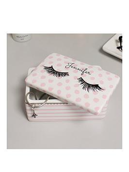 Very Personalised Eyelash Trinket Box Picture