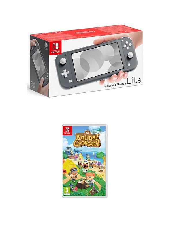 Nintendo Switch Lite Nintendo Switch Lite Grey Console With Animal