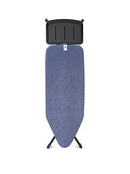 Brabantia   Ironing Board C With Black Denim Print Cover