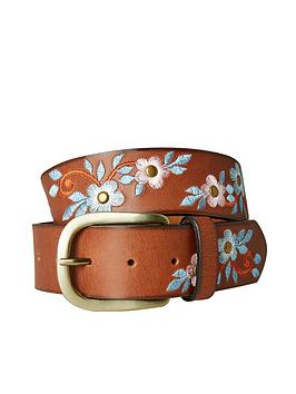 Joe Browns Joe Browns Stunning Embroidered Leather Belt - Brown Picture