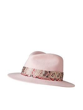 Joe Browns Joe Browns Abigail'S Swish Wool Fedora - Pink Picture