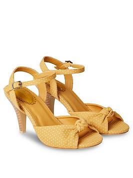 Joe Browns Joe Browns It'S Happy Hour Shoes - Mustard Picture