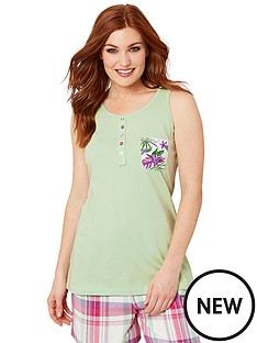 joe-browns-mix-and-match-vest-top-green