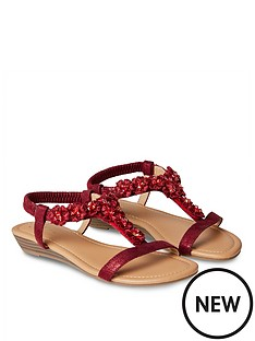 joe-browns-turning-heads-shimmer-sandals-ruby