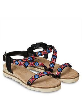 Joe Browns Joe Browns Breeze On The Bay Sandals - Black Picture