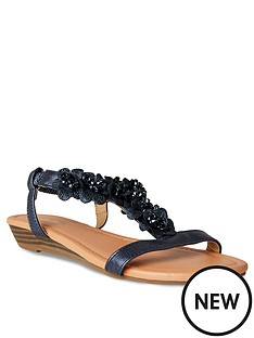 joe-browns-turning-heads-shimmer-sandals-indigo