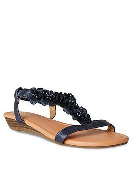 Joe Browns Joe Browns Turning Heads Shimmer Sandals - Indigo Picture