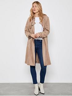 mint-velvet-faux-suede-trench-coat-camel