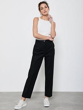Mint Velvet Mint Velvet Buttoned Capri Trousers - Black Picture
