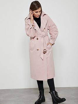 Mint Velvet Mint Velvet Pleat Sleeve Trench Coat - Pink Picture